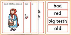 Little Red Riding Hood Character Describing Words Matching Activity