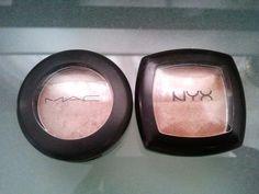 MAC All That Glitters VS NYX Champagne