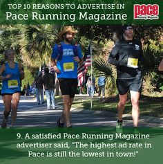 Top 10 Reasons to Advertise in Pace Running Magazine: Number Pace Running, Running Magazine, Number 9, Advertising, Top, Crop Shirt, Shirts