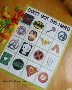 don't eat the hero, don't eat pete, party games, free printables, free party games, games for kids
