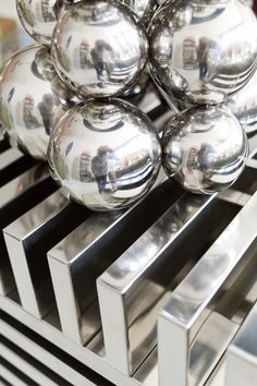 Silver objects at Buckingham Interiors + Design