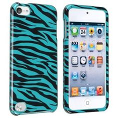 INSTEN Snap-on Case For Apple iPod touch 5th Generation, Blue/ Black Zebra. at walmart