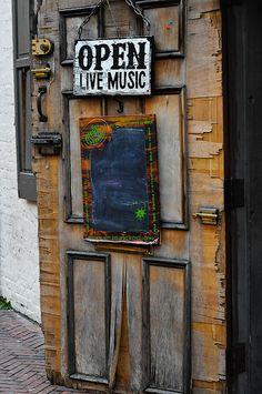 Tavern door in Fells Point, Baltimore