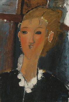 Amedeo Modigliani (Italian, 1884-1920), Jeune femme à la collerette, 1915. Oil on canvas, 55.4 x 38.7 cm.