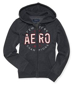 1d2b85387 Aeropostale Womens Full Zip Hoodie New York Small Dark Gray * Want  additional info? Click