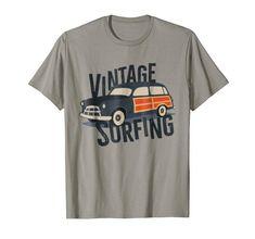 Vintage Graphic Design, Retro Design, Digital Audio Workstation, Vintage Surf, Casual T Shirts, Surfing, Typography, Aid Kit, Amazon