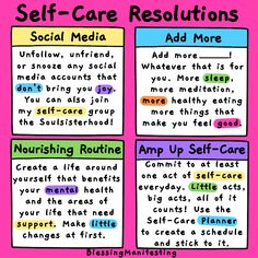 Self-Care New Year's Resolutions for some great ideas on incorporating self-care into your daily life in the new year. Get serious about your self-care! Self Care Activities, Counseling Activities, Mindfulness Activities, Year Resolutions, Self Compassion, Celebration Quotes, Self Care Routine, Coping Skills, Life Purpose