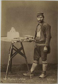 Turkish Halva seller, Ottoman Empire 1875.