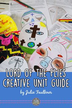 This low prep, standards-based unit plan for teaching guide for Lord of the Flies is designed to take your students through Lord of the Flies in a way that the novel comes alive. Lord of the Flies activities, masks, coloring, questions, quizzes, prompts, projects.
