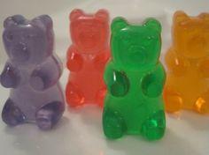 4 Transparent Gummy Bear Soaps by BerwynBettysBathShop on Etsy, $4.50