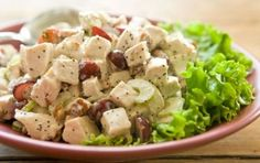 Sonoma Chicken Salad // A classic recipe... The tender chicken, crunchy pecans and sweet grapes in each bite are hard to top!