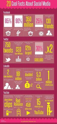 20 curiosità sui social media, in un'infografica