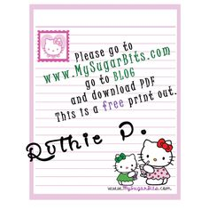 Hello Kitty Free Printable Stationery Paper 8 1/2 x 11.  Owned by My Sugar Bits