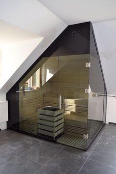 home interior design Loft Bathroom, Modern Bathroom, Bathroom Faucets, Bathroom Inspo, Infrarot Sauna, Sauna Room, Diy Sauna, Steam Room Shower, Cheap Baths