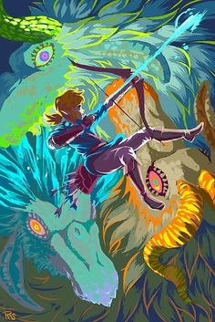 The Legend of Zelda Breath of the Wild The Three Sacred Dragons The Legend Of Zelda, Legend Of Zelda Memes, Legend Of Zelda Breath, Image Zelda, 8bit Art, Hyrule Warriors, Link Zelda, Wind Waker, Twilight Princess