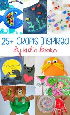 of the Best Crafts Inspired by Children's Books Looking for a fun way to reinforce what your kids are reading? These crafts are great ideas to help your kids learn and have fun at the same time, Arts And Crafts For Adults, Easy Arts And Crafts, Arts And Crafts House, Arts And Crafts Projects, Diy And Crafts, Diy Projects, Preschool Crafts, Toddler Activities, Preschool Activities