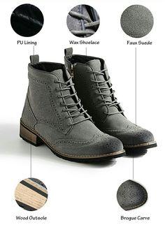 US $32.48 <Click to buy> Prelesty Brand Autumn Winter Vintage Wingtip Boots Retro Leather Casual Men Boots Dress Shoes Low Platform Botas Hombre http://www.allthingsvogue.com