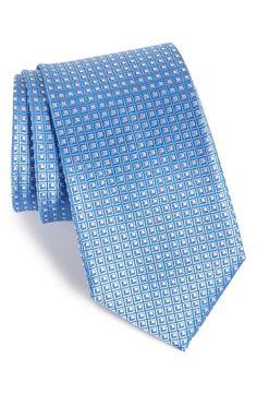 'Beckham' Check Silk Tie (X-Long)