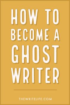 Want to become a ghostwriter? It's a smart way to earn a living as a freelance writer. Here's a guide to breaking into this niche. Book Writing Tips, Article Writing, Writing Process, Letter To The Editor, Freelance Writing Jobs, Wise People, Make Money Writing, Writing Inspiration, Ghostwriter