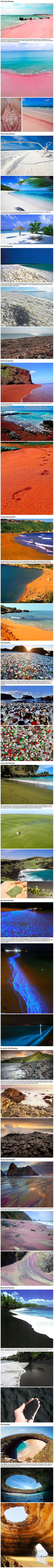 12 absolutely unique kinds of beaches you probably didn't know existed. Pink Sand Beach Hawaii, Purple Beach, Rainbow Beach, Pink Ocean, White Sand Beach, Hawaii Ocean, Orange Beach, Pictures Of The Beach, Funny Beach Pictures