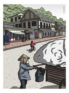 Luang Prabang, Laos #luangprabang #laos #illustration #ilustracion