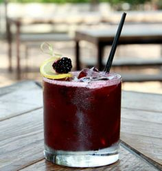 blackberry bourbon lavender cocktail, no recipe I think I can come up with a good version. -K
