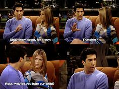 Ross, why do you hate our child?  (via fuckyeahfriendscaps)