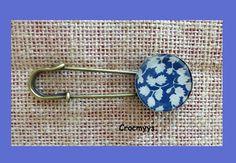 Broche rétro liberty glenjade bleu : Broche par crocmyys