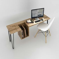 "High Table by EhoEho a Canadian design studio based in Toronto. Its designers are at the origin of this office called ""High Table"" which can be used ."