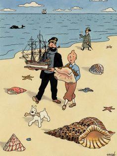 "nelsoncarpenter: "" ein-bleistift-und-radiergummi: Bright Watercolour Illustration of Tintin, given by artist Hergé to a friend. COURTESY OF PIASA OF PARIS. Comic Kunst, Comic Art, Comic Books, Cartoon Cartoon, Tin Tin Cartoon, Haddock Tintin, Asterix E Obelix, Comics Und Cartoons, Captain Haddock"