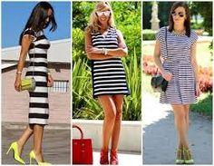Resultado de imagem para vestidos listrados curtos