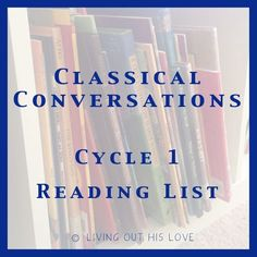 This will be our second time studying Cycle 1 with our Classical Conversations community, so we already have a pretty decent book collection. But I've added a bunch of new ones for us also! I may still add a few if they are good fits, but I'll be working from this list. Some weeks are pretty…