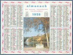Almanach des Postes 1958