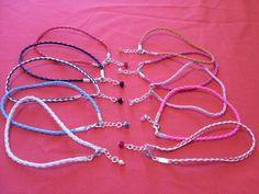 Braided leather anklet/ankle bracelet hippy festival beach crystal