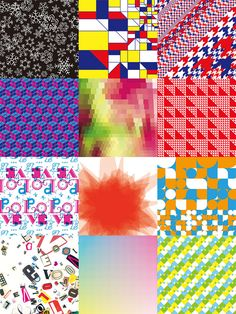12 wrapping paper designs by Kawisha Sato (for Loft, Japan)