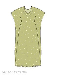 AMINA CREATIONS: HOW TO MAKE A KAFTAN. It pulls in at the empire line. Makes a nice variation