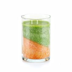 "SCENTS OF HOME™ - PURE PALM CANDLE - KIWI PAPAYA (APPLE GREEN/ORANGE)  Juicy melon, papaya and kiwi with a touch of bananas, peaches and vanilla beans. (Apple Green/Orange) 3 x 4½"" 11.5 oz.  Item: 04515  $14.00  www.celebratinghomewithjulia.com"