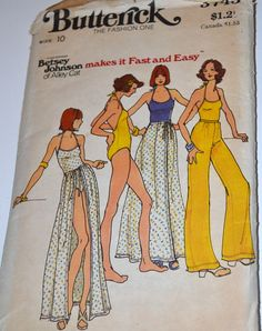 Vintage Sewing Pattern Butterick 3745 Swim by GoofingOffSewing