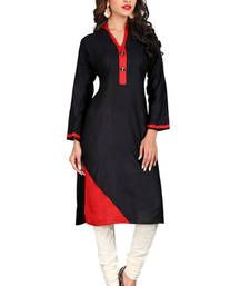 467f76956c Buy Black printed rayon cotton kurtas-and-kurtis cotton-kurti online  Anarkali Kurti