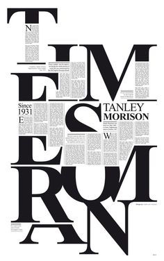times new roman by pedro javier  arbelaez | Tribute to Stanley Morrison http://www.behance.net/gallery/Times-New-Roman/5367119  #typography #design #newspaper