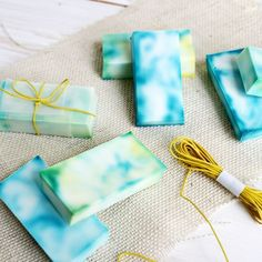 Try this easy method for making tie dye soap!