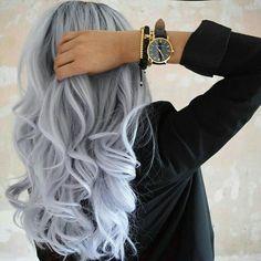 Haare Para seeing that cacheadas e crespas, dormir sem desmanchar the cachos parece até Voluminous Curls, Dye My Hair, Hair Tie, Pinterest Hair, Hair Color Highlights, Coloured Hair, Cool Hair Color, Hair Colour, Grunge Hair