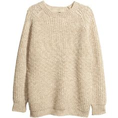 H&M Wool jumper ($51) ❤ liked on Polyvore featuring tops, sweaters, jumper, pullovers, maglie, beige, sweater pullover, h&m sweater, wool jumper and pullover sweater