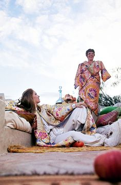 Talitha Getty and husband John Paul Getty Jr. at their holiday house in Marrakech, Morocco. Photo by Patrick Lichfield for Vogue, January 15, 1970.Talitha Getty and husband John Paul Getty Jr. at their holiday house in Marrakech, Morocco. Photo by Patrick Lichfield for Vogue, January 15, 1970