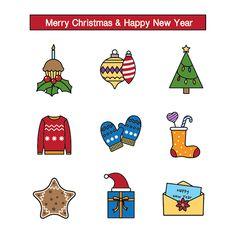킨코스 크리스마스 스티커 템플릿 Merry Christmas And Happy New Year