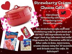 Strawberry Cream Cheese Cake in the Bean Pot  Need a bean pot?  Click here http://www.celebratinghome.com/sites/naomi/PWPSearchProduct.aspx?KeyWord=Bean%20pot