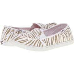 bb3216d0504 Roxy Lido II Women's Slip on Shoes, White ($22) ❤ liked on Polyvore  featuring shoes, white, slip on deck shoes, deck shoes, topsider shoes,  white deck ...