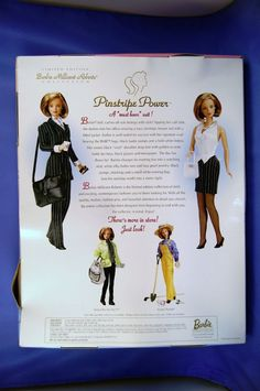 1997 Barbie Pinstripe Power from The Millicent Roberts Collection | eBay