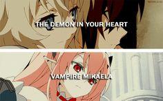 owari no seraph Scariest Monsters, Thanks My Friend, Cartoon Video Games, Love Stage, Mikaela Hyakuya, Seraph Of The End, Owari No Seraph, Manga Games, Me Me Me Anime