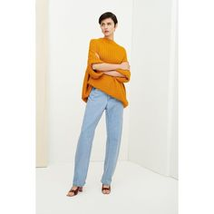 FREE SHIPPING - The Direction Jumper by Kowtow - A ribbed knit jumper with a relaxed fit, made from organic cotton. The jumper has a high neckband, wide cropped sleeves, and a displaced shoulder seam. Organic Cotton, Jumper, Seed Stitch, Garter Stitch, Knitting, Cable Knit, Chambray, Sleeves, Minimal Design